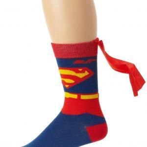 chaussette superman avec cape cadeau geek rigolo